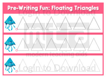 Pre-Writing Fun: Floating Triangles