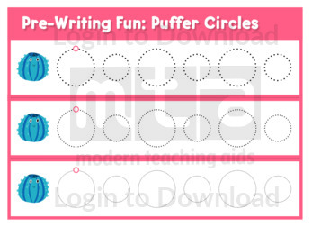 Pre-Writing Fun: Puffer Circles