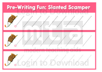 Pre-Writing Fun: Slanted Scamper