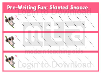 Pre-Writing Fun: Slanted Snooze